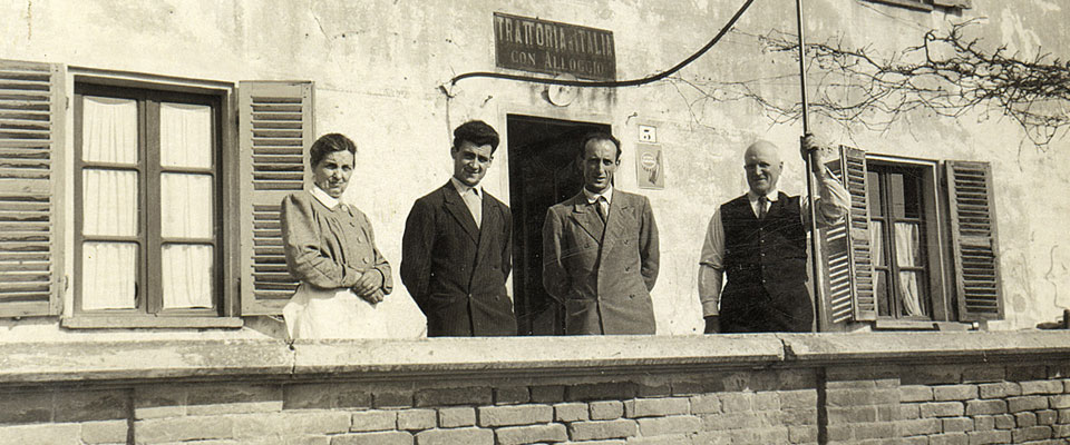 History of Albergo Ristorante Italia at Serralunga in the Langhe